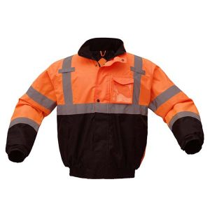 CLASS 3 WATERPROOF QUILT-LINED BOMBER JACKET (Size: 3XL)